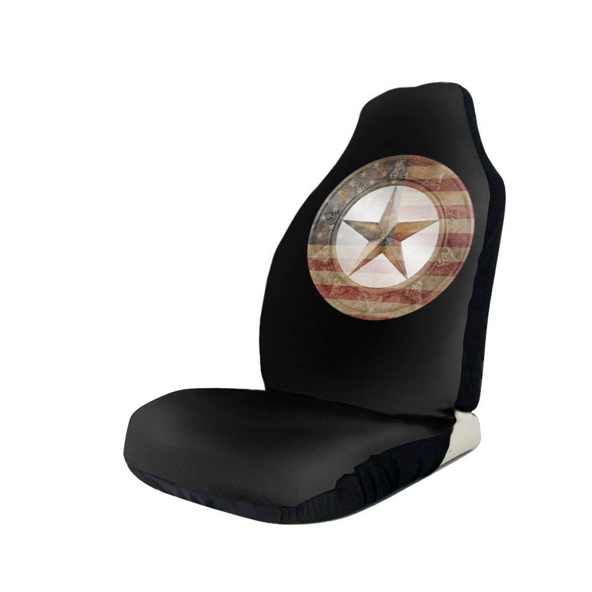 Western Texas Star Anti-Skid and Waterproof Car Seat Covers Protector Fits Most Cars, Auto SUVs Trucks