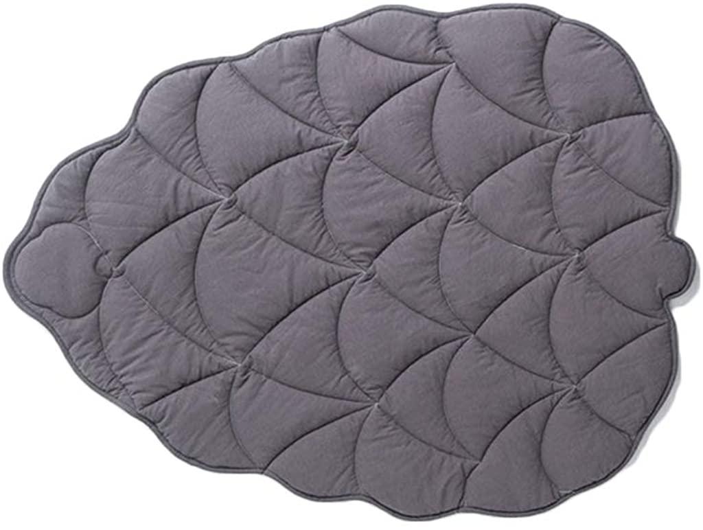 minansostey Newborn Baby Cotton Carpet Blanket Leaf Shape Crawling Play Mat Rug Room Decor