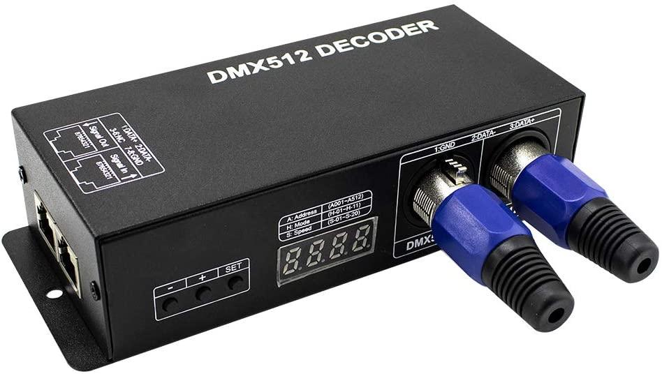 High Power Dmx Led Controller Led DMX 512 Decoder Dimmer Driver DC12V-24V for led rgb strip or lights (3 Channel(with digital display))