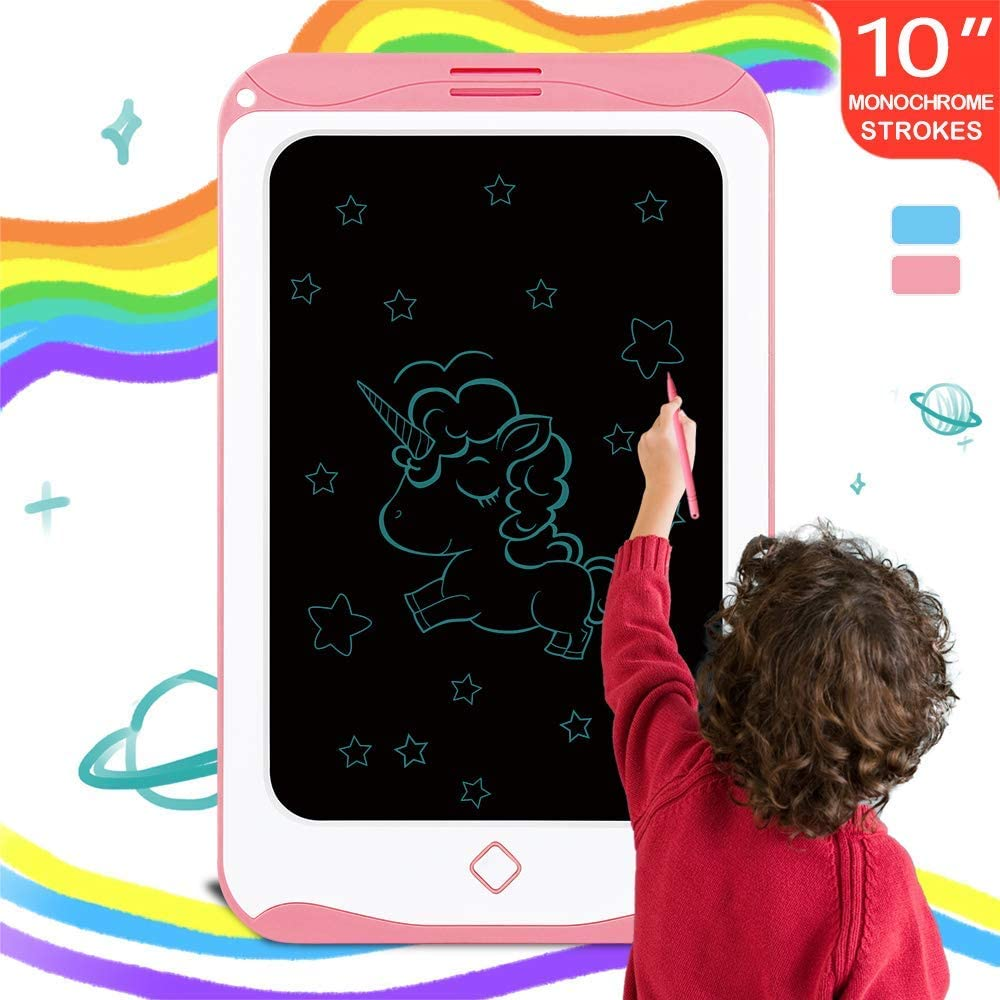 Kids Writing Tablet, 10 inch, Drawing Tablet, Electronic Doodle Board, Smart Sketchbook, Gifts for Kids (3, 5 Year Old Boys, Girls and Older), for Home, School, Travel and Outdoor (Pink)