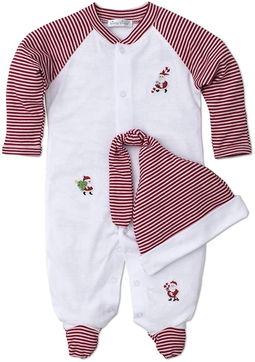 Kissy Kissy Unisex Baby Kris Kringle - Footie with Hat Set