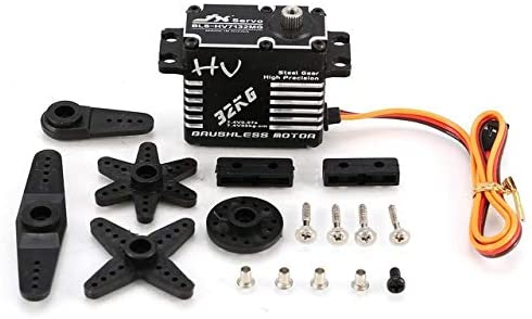 Parts & Accessories JX BLS-HV7132MG 32KG Metal Steering Digital Gear HV Brushless Servo with High Voltage for RC Car Robot Airplane Drone HOT! - (Color: BLS-HV7132MG 32KG, CN)