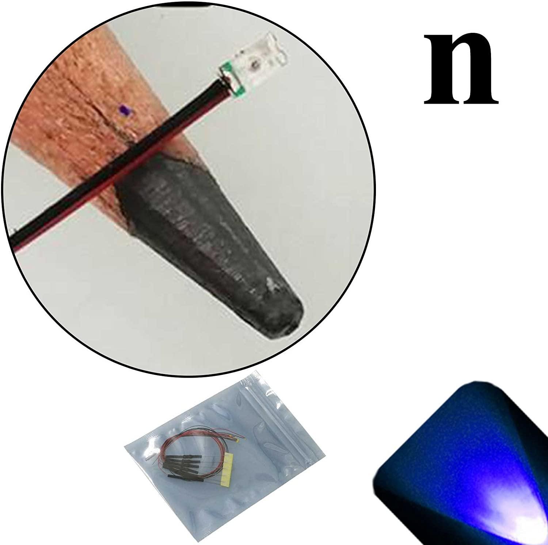 Lighthouse LEDs 12v 0603 Nano SMD Wide Angle Pre-Wired Blue LED - Ultra Bright (10v, 11v, 12v, 13v, 14v, 15v, 16v, 17v, 18v) (Pack of 5)