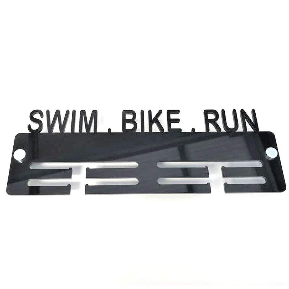Super Cool Creation Swim, Bike, Run Medal Hanger - Orange