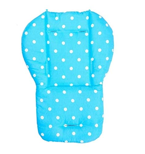 Replacement Parts/Accessories to fit Easywalker Stroller Products for Babies, Toddlers, and Children (Blue Polka Dot Cushion)