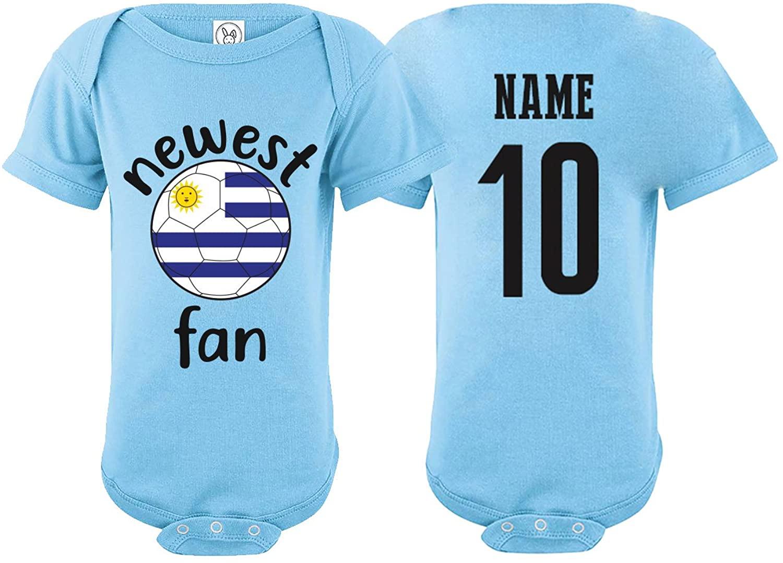 Uruguay Bodysuit Newest Fan National Team Soccer Baby Girls Boys Customized