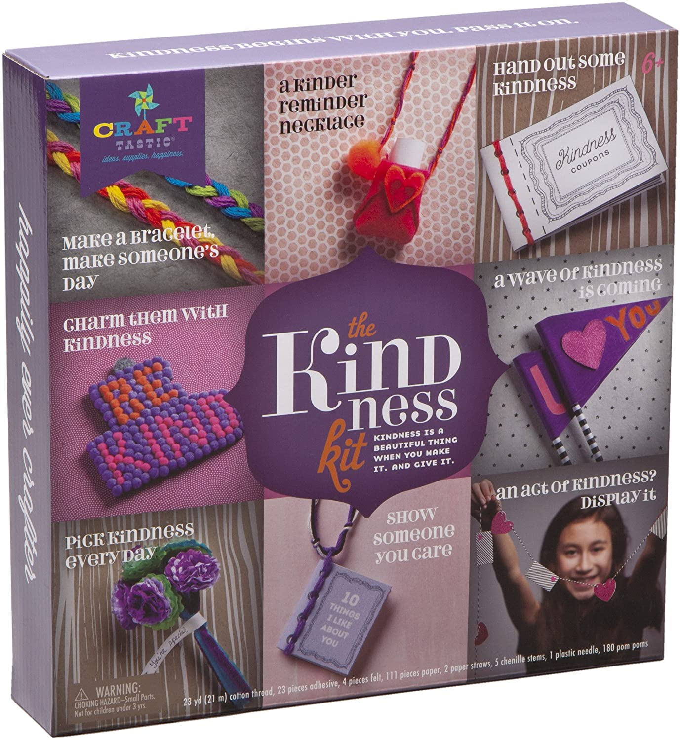 Craft-tastic – Kindness Kit – Craft Kit Includes 8 Projects to Inspire Kindness, Standard