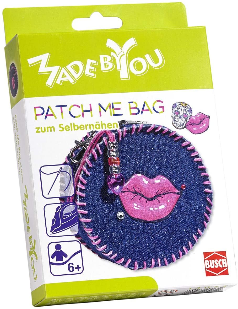 Busch Made by You 13065 Patch Me Bag Love Childrens Craft Kit