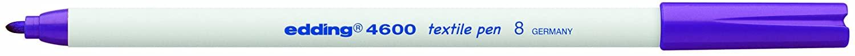 edding 4600 Textile Marker Pen - Violet (Pack of 10)