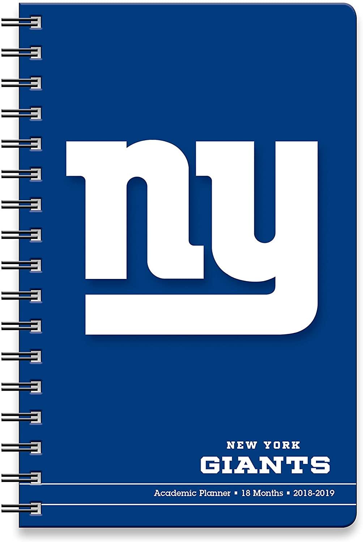 New York Giants NFL Academic Planner, 18 Months, 2018-2019, 1-Pack