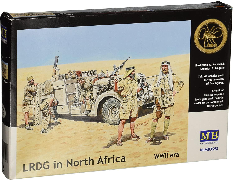 Master Box WWII Long Range Desert Group (LRDG)(5) Figure Model Building Kits (1:35 Scale)