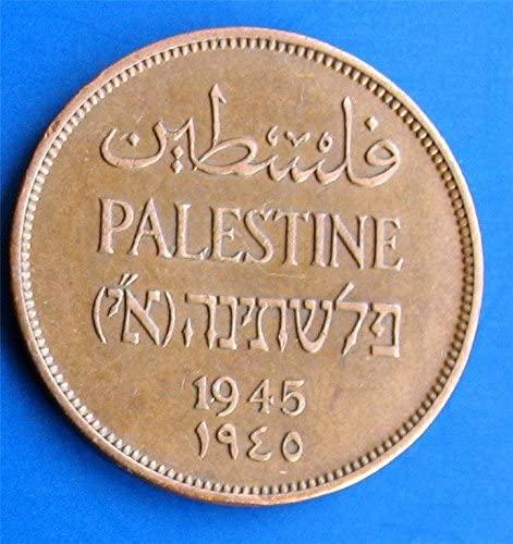 1945 Palestine 2 Mils Coin