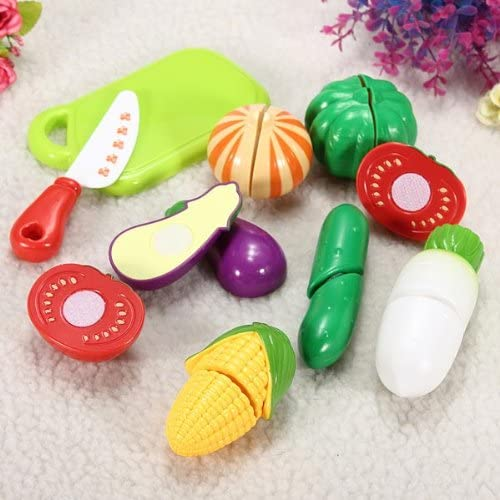 Cutting Slicing Plastic Pretend Fruit Vegetable Food Toy Baby Gift