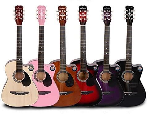 New Professional Acoustic Callaway Folk 38 inch Guitar STAGE ESSENTIALS (Wood)