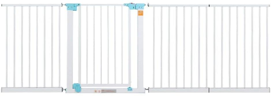 Huo Baby Gate Indoor Safety Gates Extra Wide Baby Gate White Fits Spaces BetweenPressure Mounted Pet Door (Size : 179-186cm)