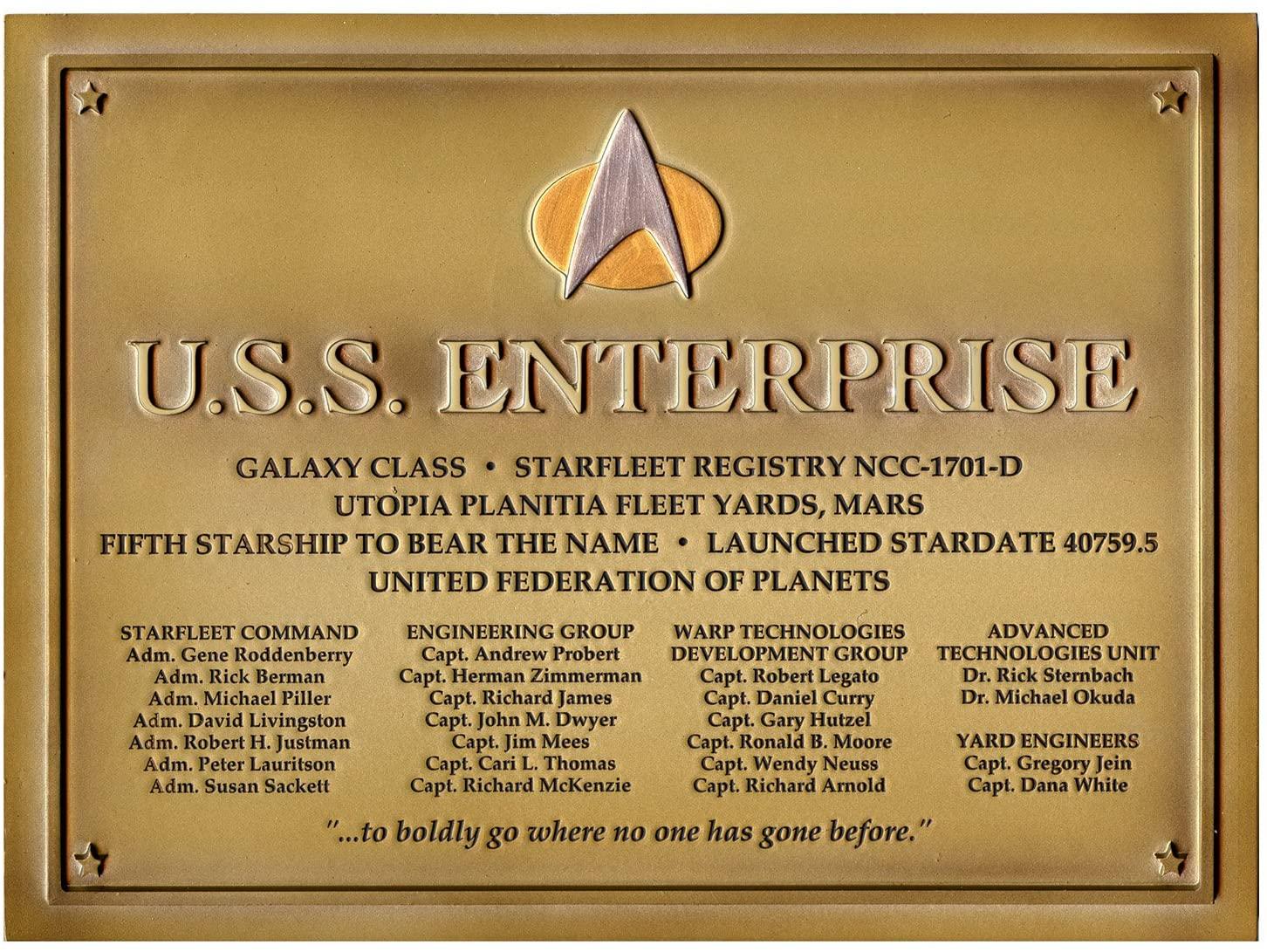 USS Enterprise NCC 1701-D Dedication Plaque by Eaglemoss