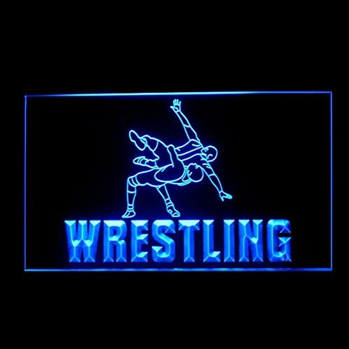 230114 Wrestling Fight Fighting Intense Training Display LED Light Sign