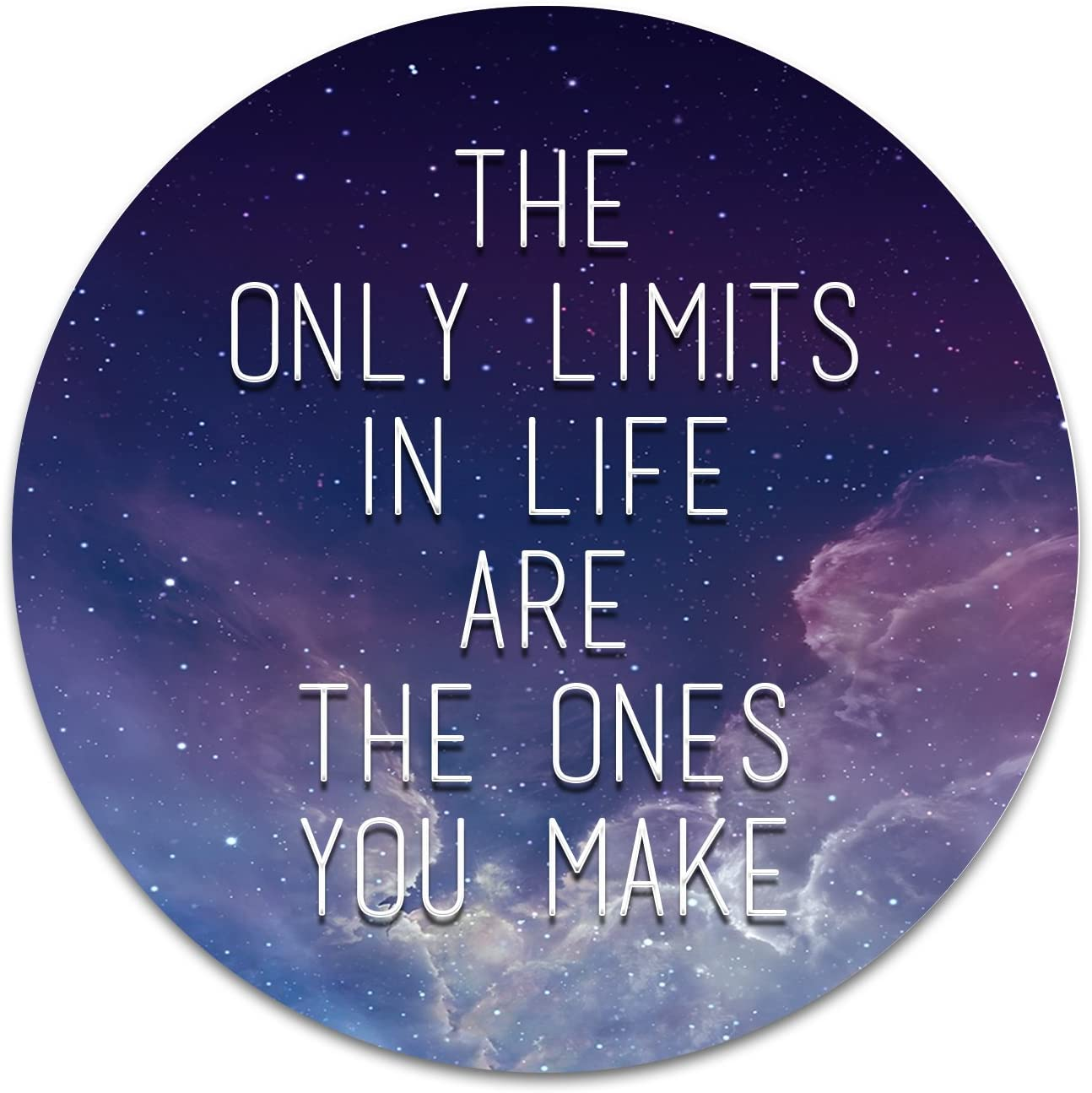 2X Sticker Set - The Only Limits in Life - for Phone Grip Stent Cell Phones Tablets (Stickers Only)