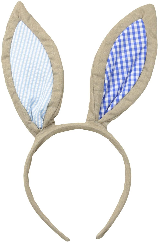 Mud Pie Baby-Boys Newborn Blue Bunny Headband