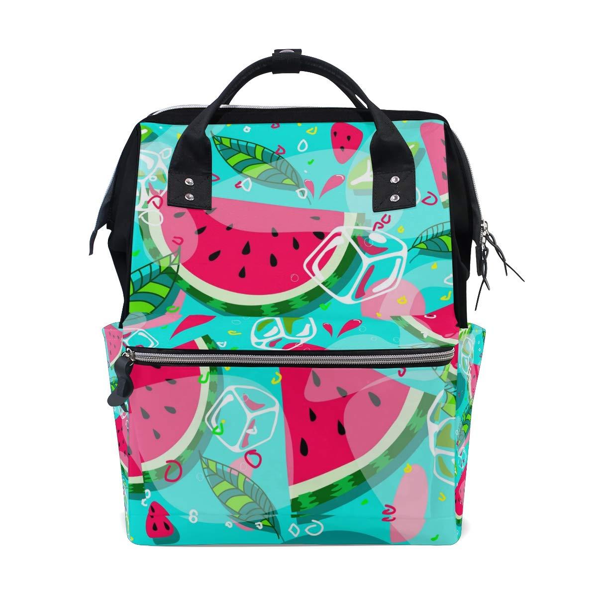 A Seed Backpack Baby Diaper Bag Tropical Summer Watermelon for Girls Women Tote Daypack Bookbag