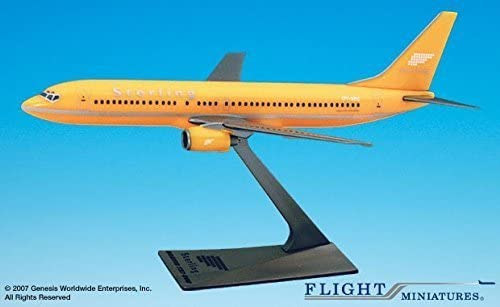 Flight Miniatures Sterling Airlines Denmark Boeing 737-800 1:200 Scale Yellow Display Model