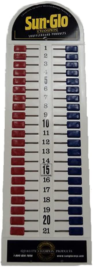 Sun-Glo Table Shuffleboard or Cornhole - Plastic Scoreboard - Red/Blue