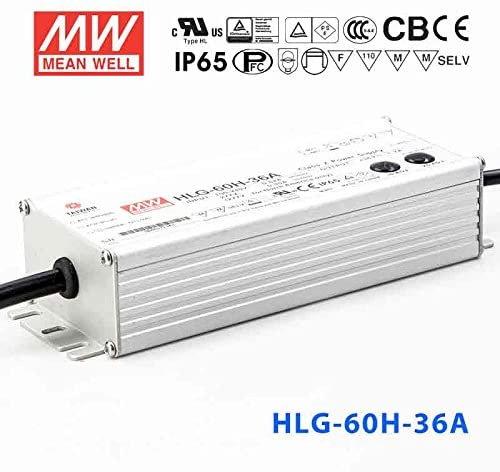 Meanwell HLG-60H-36A Power Supply - 60W 36V 1.7A - IP65 - Adjustable Output
