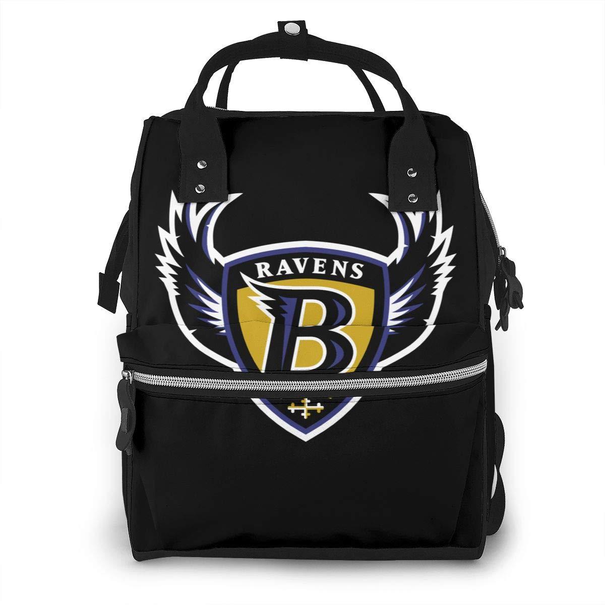 Baltimore Raven Fashion Mummy Backpack Shoulder Bag Portable