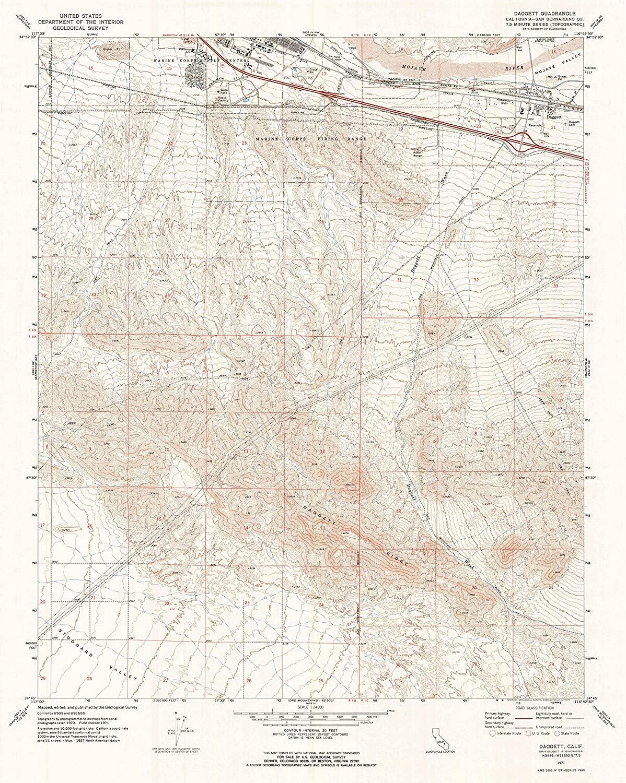 Map Print - Daggett, California (1971), 1:24000 Scale - 24