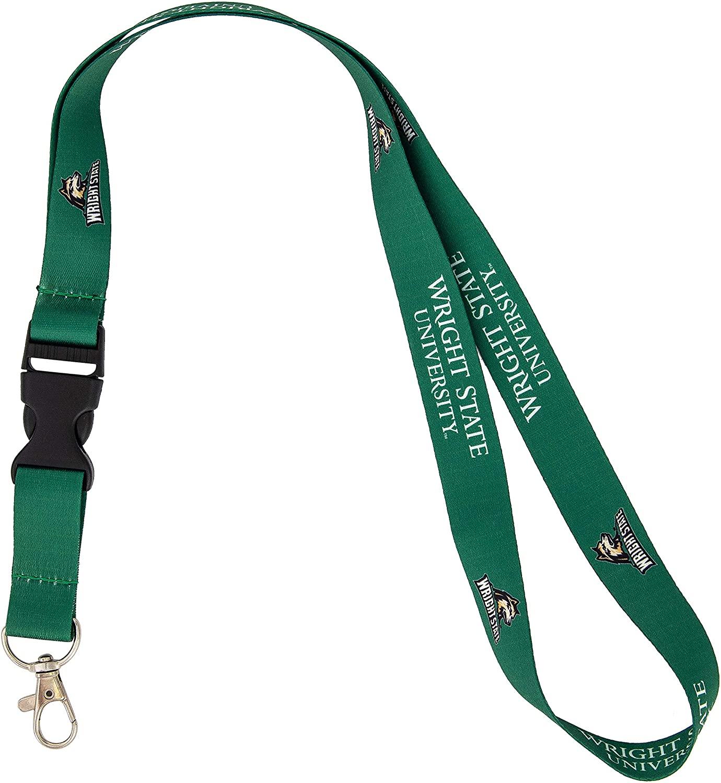 Wright State University WSU Raiders NCAA Car Keys ID Badge Holder Lanyard Keychain Detachable Breakaway Snap Buckle