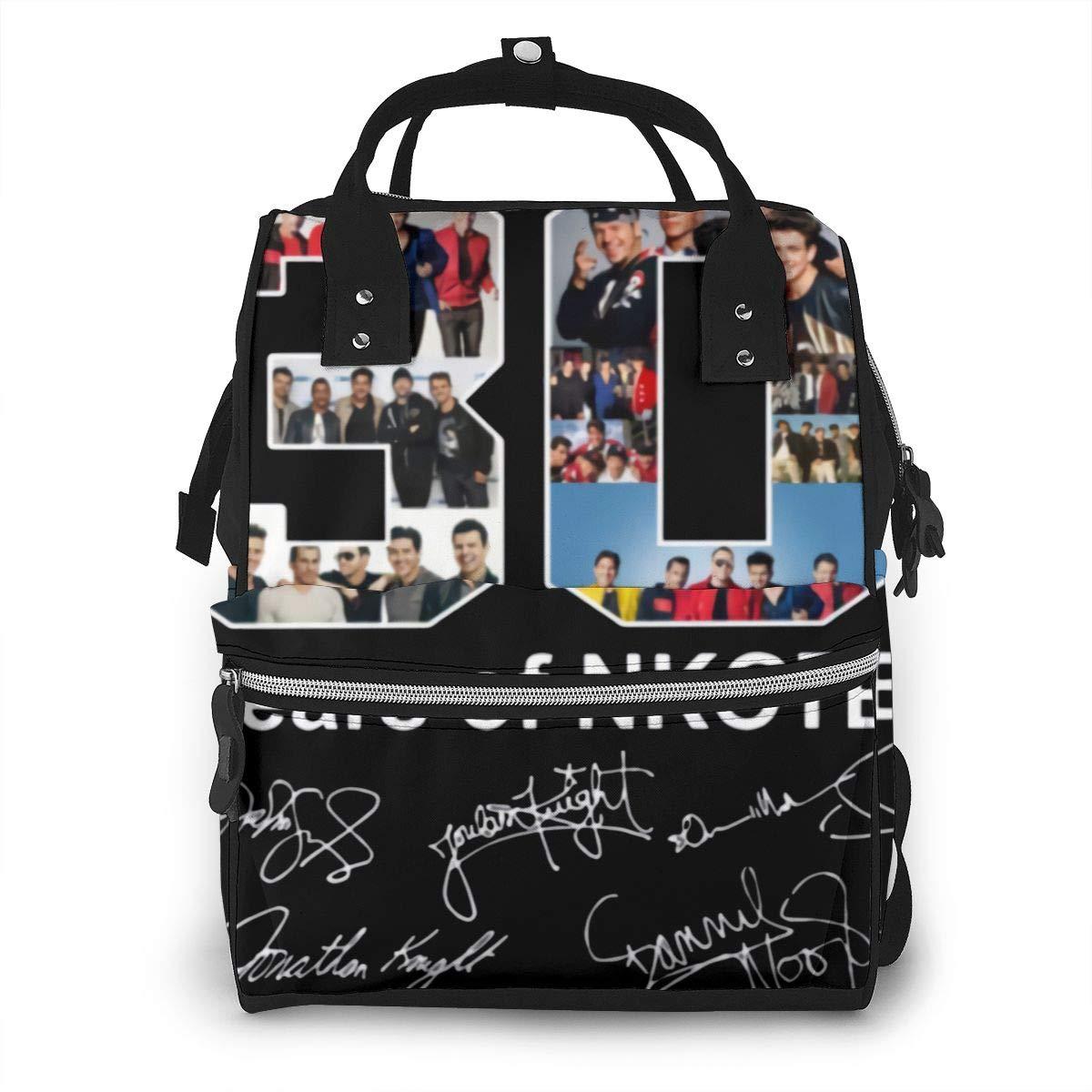 30 Years of New Kids On The Block NKOTB Durable, Large Capacity, Stylish, Adjustable Strap Length Mummy Backpack