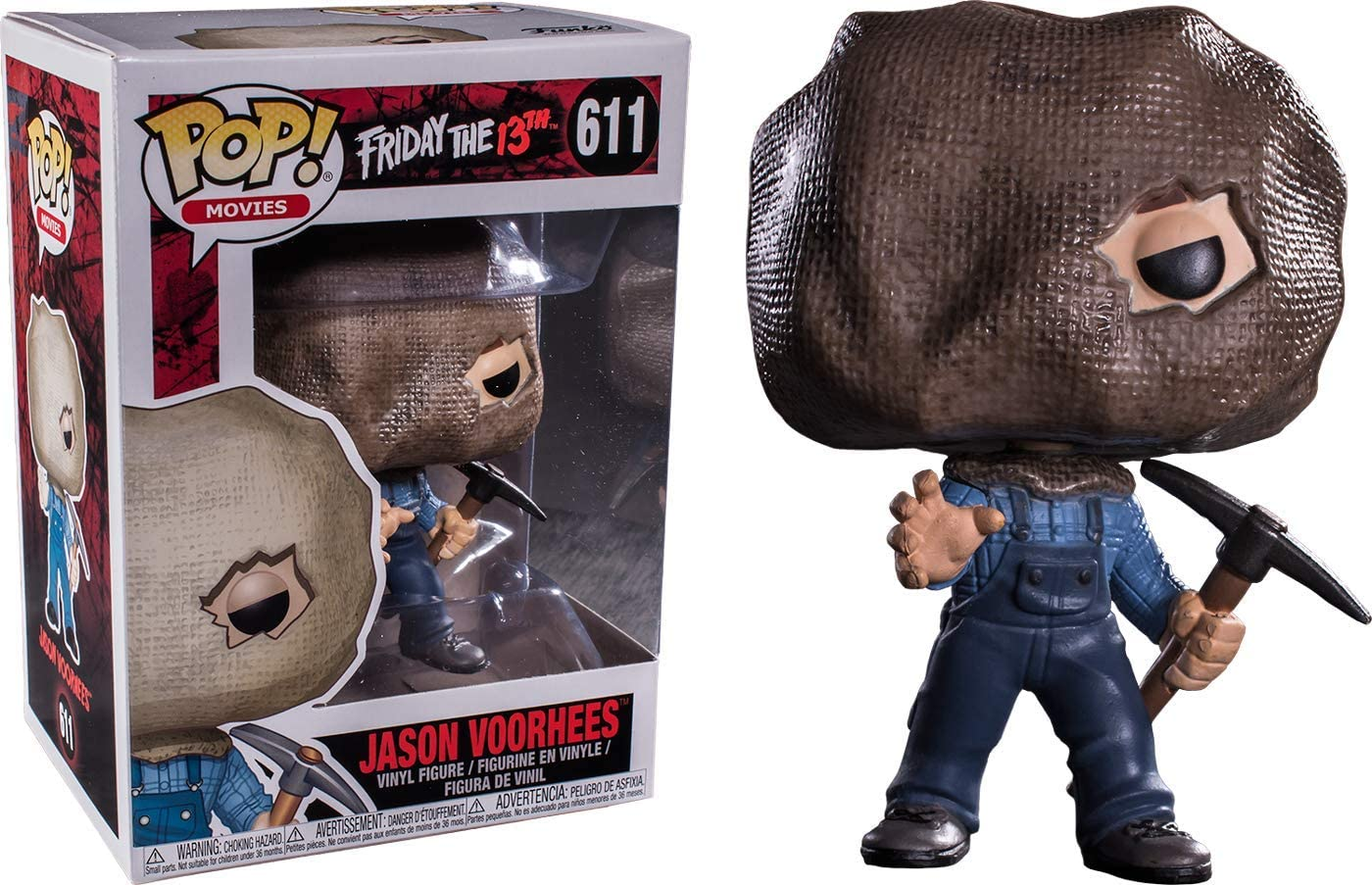 Movies- Friday The 13th: Jason Voorhees Exclusive Vinyl Figure with Bag Mask