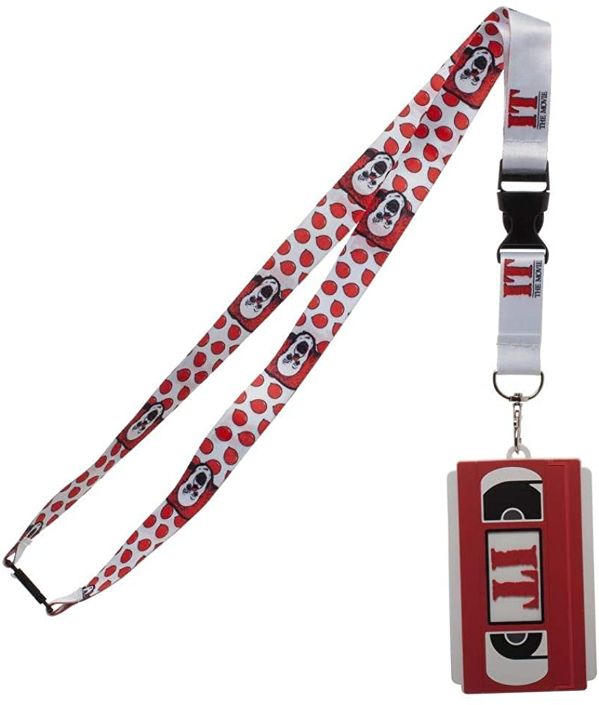 It Breakaway Lanyard With Molded Rubber VHS Movie ID Holder