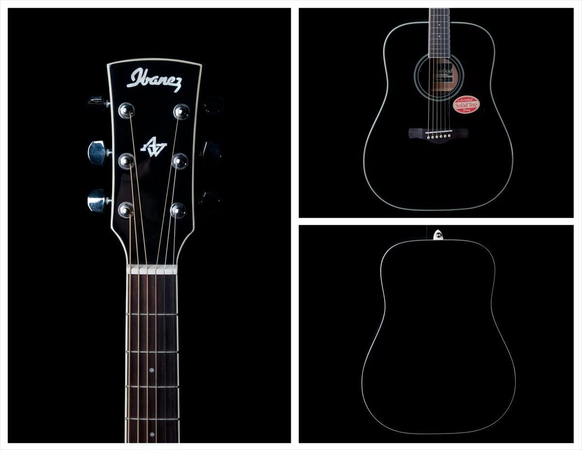 Ibanez AW70 Acoustic Guitar (Black)