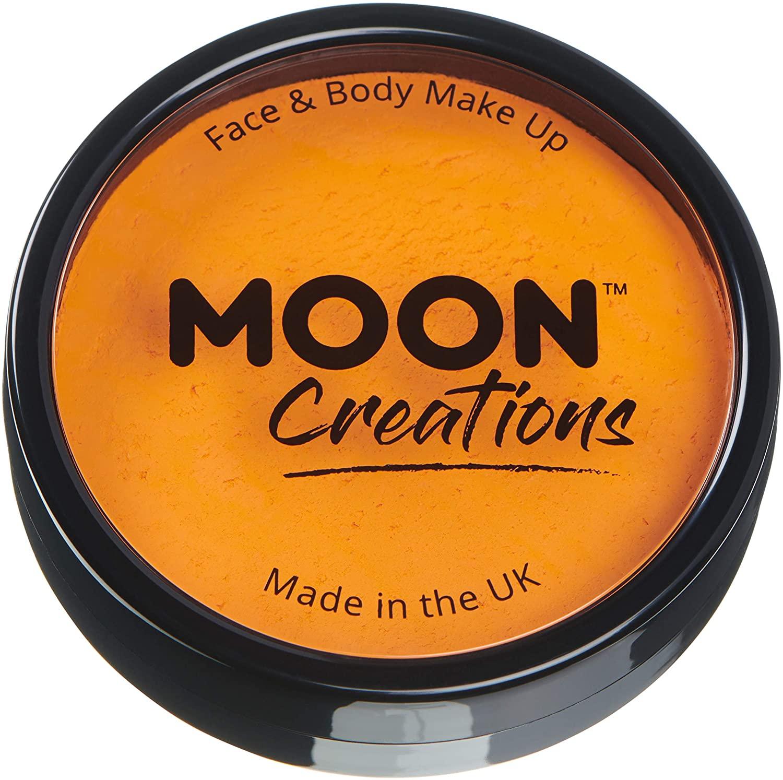 Moon Creations - Pro Face & Body Paint Cake Pots - Sunshine Orange