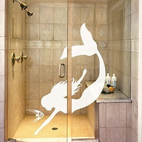 Fairy Tale Fish Wall Decal Sea Maiden Decor Vinyl Nursery Wall Art Decoration £¨Small,White
