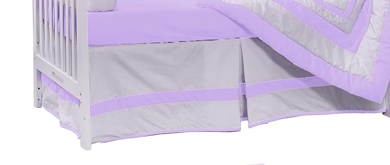 Baby Doll Bedding Modern Hotel Style Crib Dust Ruffle/Skirt, Lavender