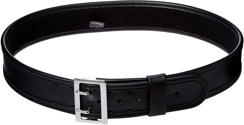 Bianchi 7960 PLN Black Sam Browne Belt with Chrome Buckle
