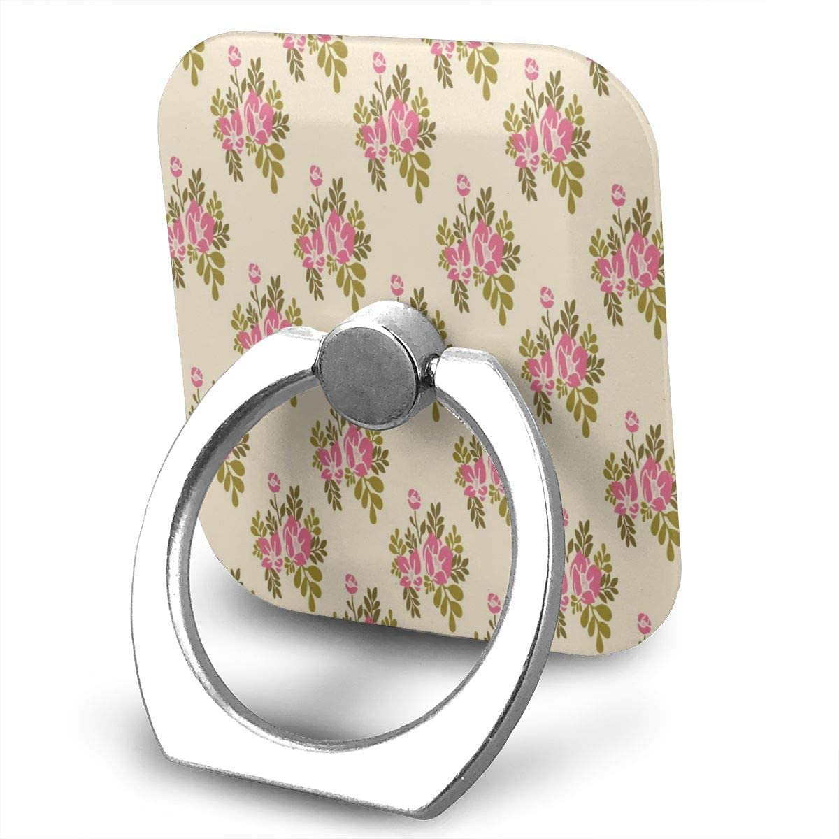 SLHFPX Universal Phone Ring Holder with Leaf Floral Elegant Decor. Adjustable 360°Rotation Square Finger Grip Loop Cell Phone Stand for Phone X/6/6s/7/8/8/10/11 Plus Smartphone Android