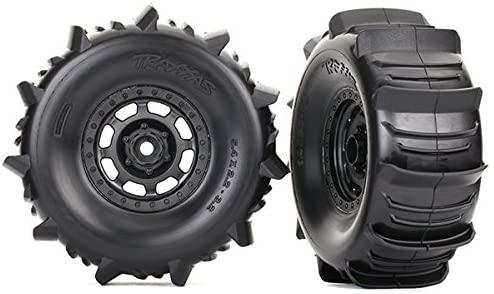 Traxxas 8475 Desert Racer Wheels with Paddle Tires, Black
