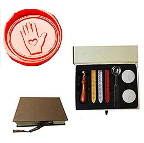 MDLG Vintage Love Glove heart Custom Picture Logo Wedding Invitation Wax Seal Sealing Stamp Sticks Spoon Gift Box Set Kit