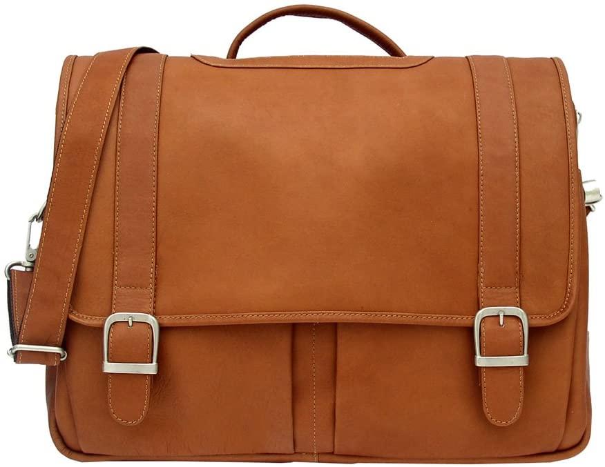 Piel Leather Ultimate Organized Portfolio, Saddle, One Size