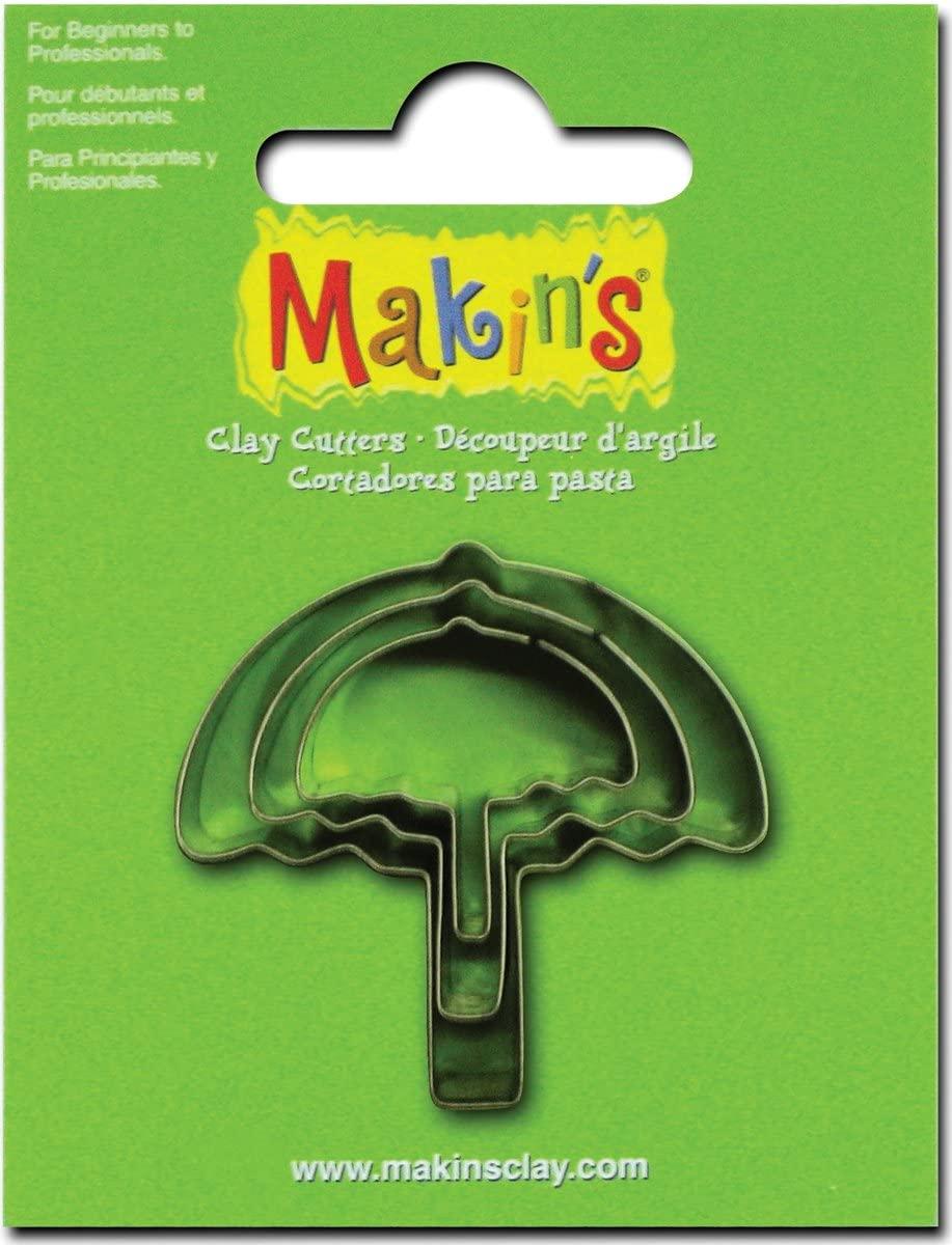 Makin's USA Clay Cutters, Umbrella, 3 Per Package