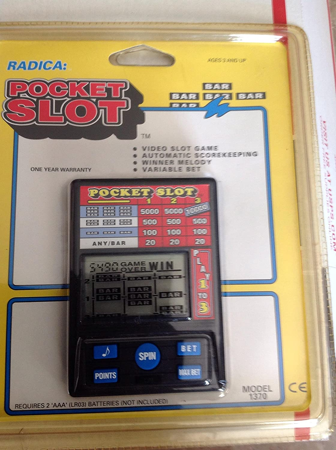 Radica Pocket Slot Video Slot Machine Electronic Handheld Game
