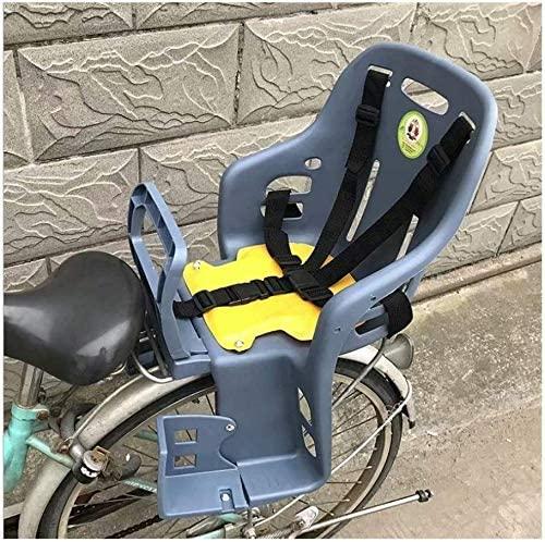 GYR Bike Child Seats, Bike seat for Toddler, Bike seat for Kids on Adult Bike, Children Bike Seat Bicycle Back Seat Adjustable Child Bike Carrier Seat for Bicycle MTB Road Bike (Gray)