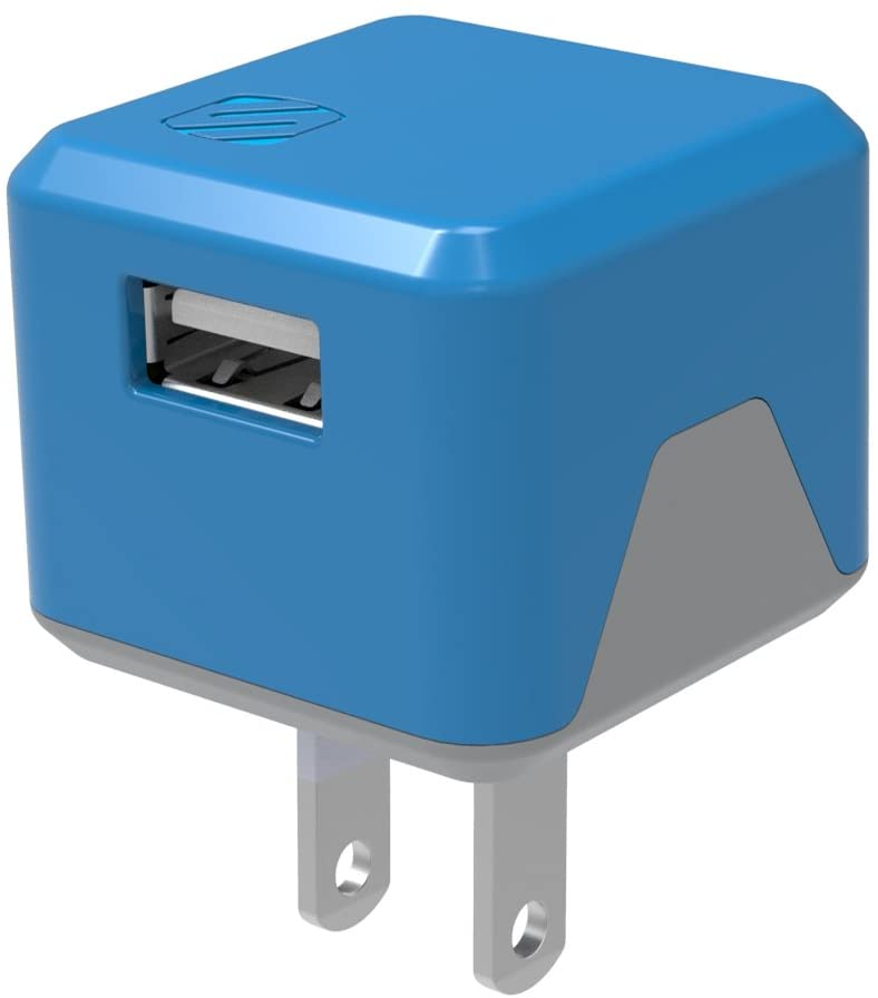 SCOSCHE USBH121BL SuperCube Flip 12W Single USB Port Wall Charger for ALL USB Devices - Blue
