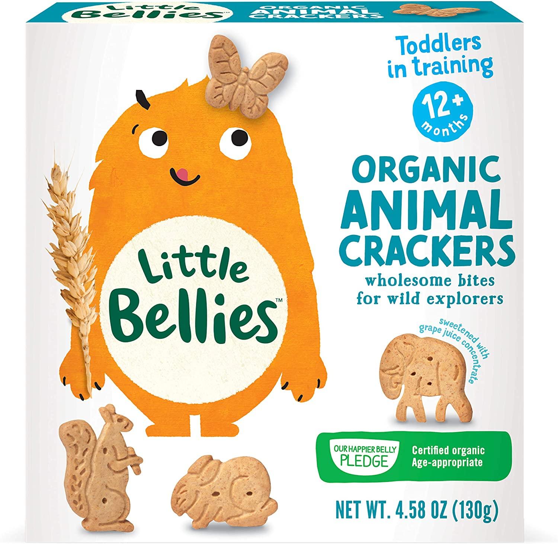 Little Bellies Organic Animal Crackers, 12+ Months, 4.58 oz (5 Pack)
