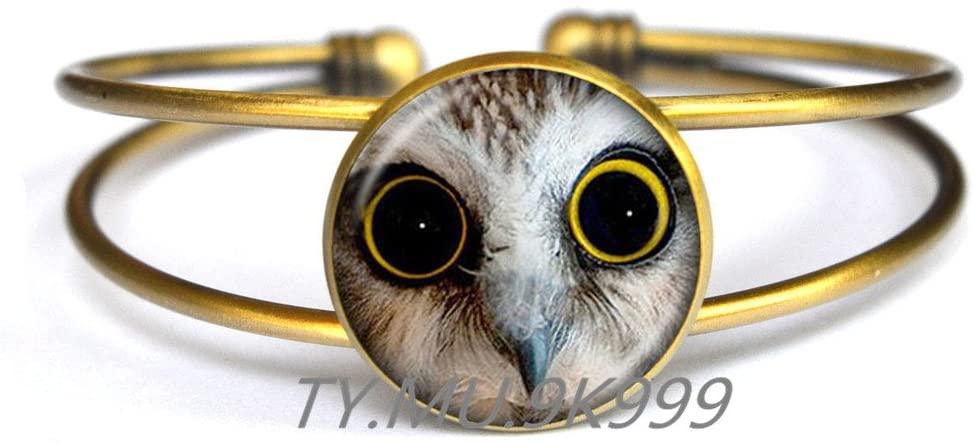 Yao0dianxku Owl Bracelet - Owl Jewelry Bird Bracelet Nature Bracelet Nature Jewelry Woodland Bird.Y035