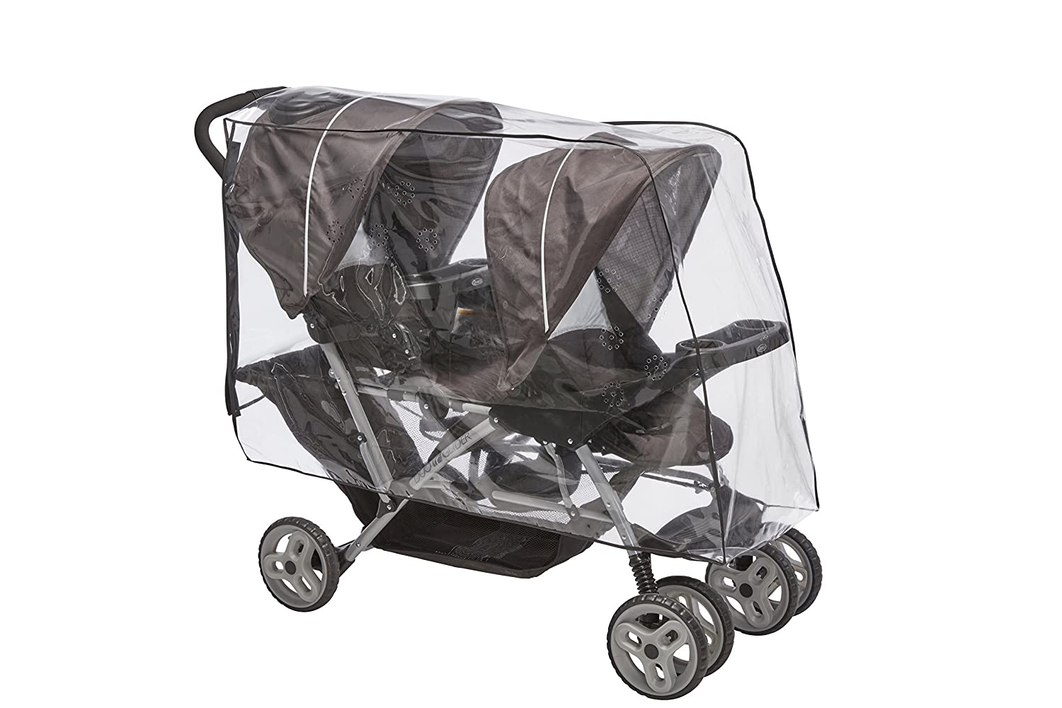 Sashas Premium Series Rain and Wind Cover for Graco DuoGlider Click Connect Stroller