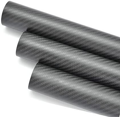 WHABEST 3K Carbon Fiber Tube 19mm x 20mm x 1000mm Long Multi Copter ARM Matt Rod